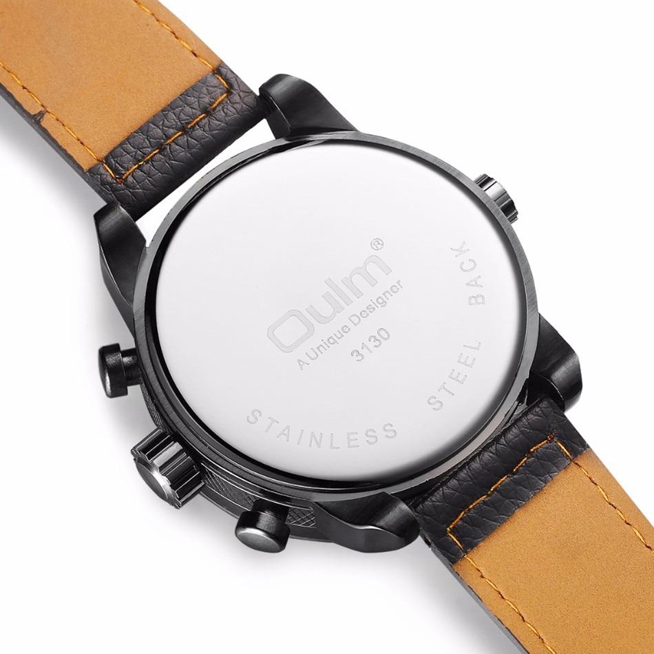 Nieuwe OULM 3130 Heren grote wijzerplaten Uniek ontwerp Dual Time - Herenhorloges - Foto 4
