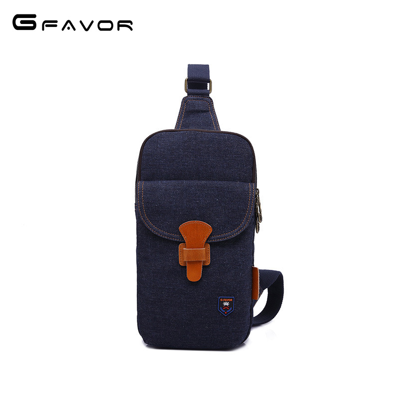 Fashion Denim Chest Bag Men 2018 New High Quality Crossbody Bag Casual Travel Shoulder Bag Large Capacity Zippers Chest Bag vintage canvas chest bag men new crossbody shoulder bag multifunction casual travel bag fashion large capacity chest bag for men