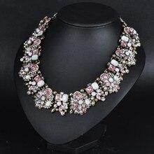 HOUDA 2017 New Maxi Necklace Z statement Necklaces & Pendants Rhinestone Fashion Women Jewelry Collar women gifts N00390