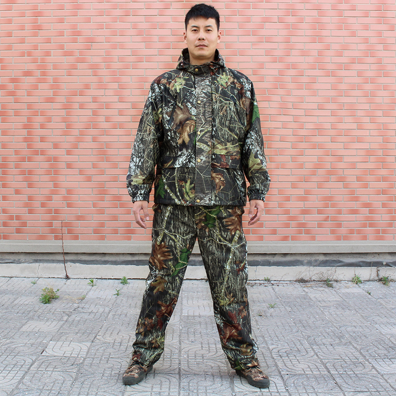 Bionic Hunting Suit Jacket & Pants Camouflage Ghillie Suit 3D Leaves Camo Windproof Breathable Hiking Hunting Suit Jacket Hoody 5 pieces new ghillie suit camo woodland camouflage forest hunting 3d
