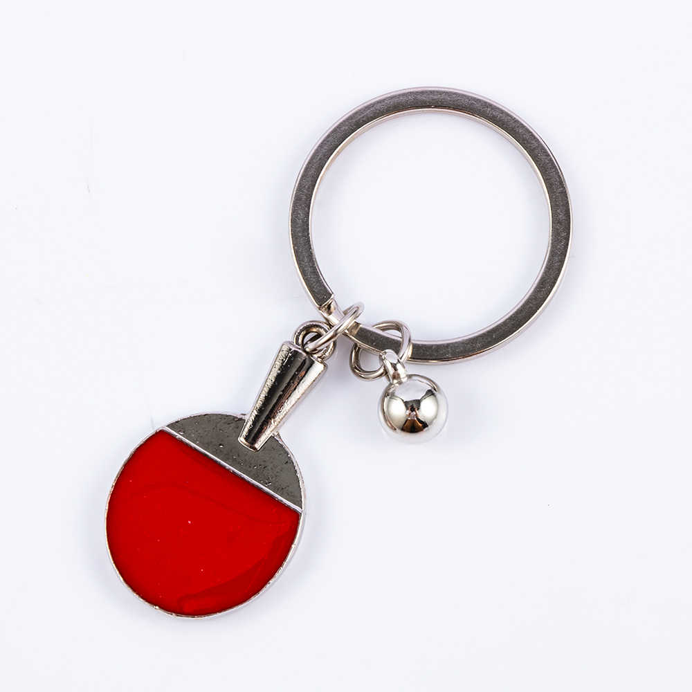 New 1Pcs Lovely Mini Table Tennis Badminton Tennis Key Chain Racket Creative Gifts Accessories Hot Sale