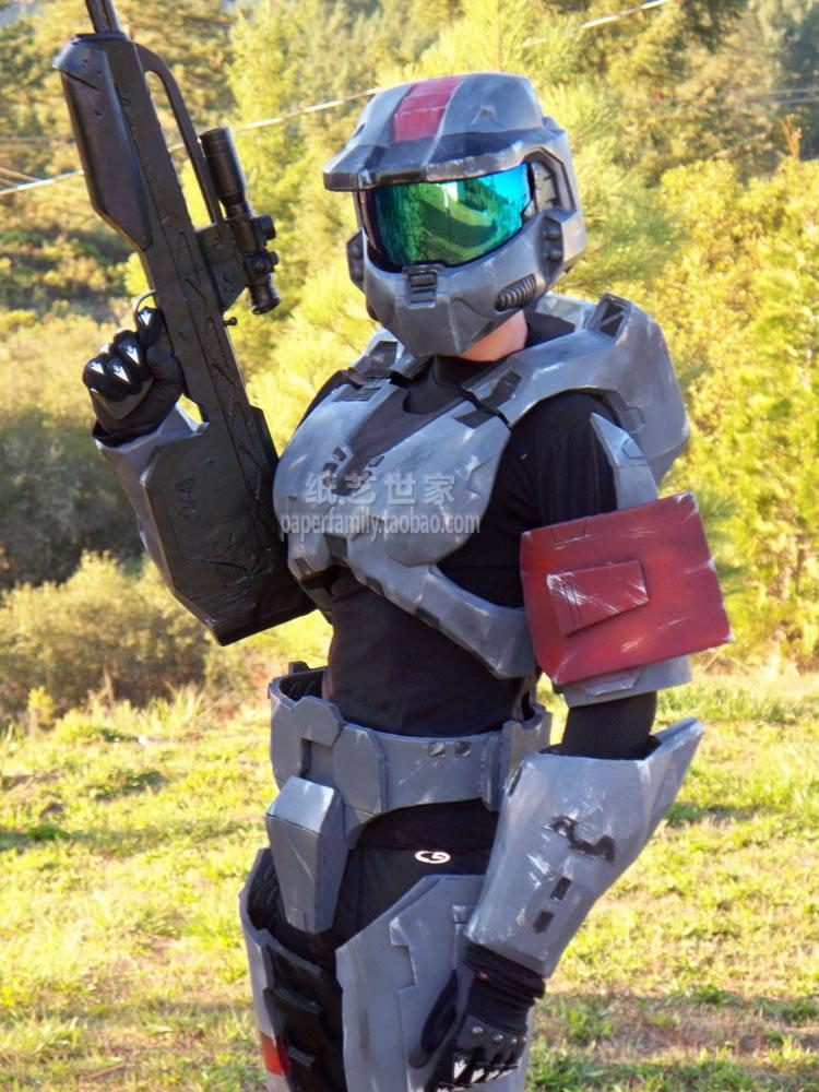 Halo 3 Latest MK VI Body Armor 1: 1 Wearable 3D Paper Model halo bruteshot 3d paper model