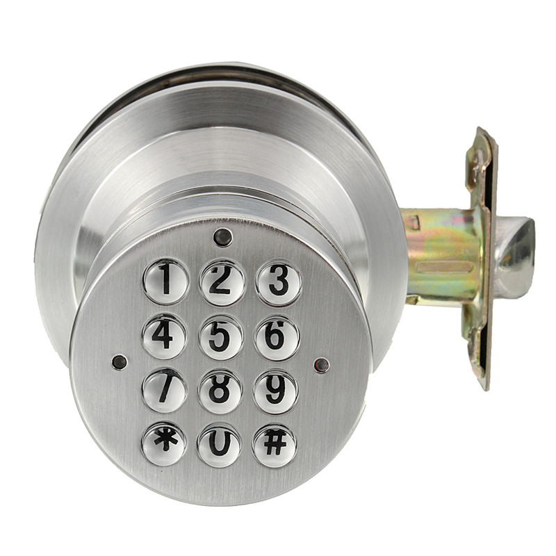 Keyless Electronic Code Digital Card Keypad Security Entry Door Lock System New Arrival  Free Shipping