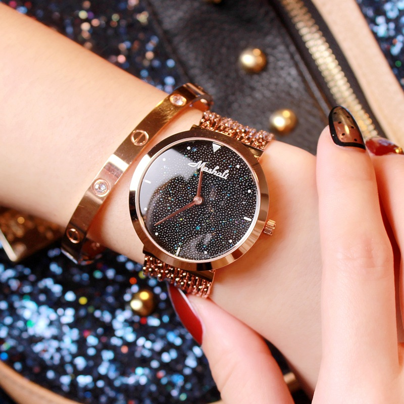 Luxury Quartz Fashion Crystal Women Bracelet Watch Female Dress Ladies Rhinestone Stainless Steel Tassel Wristwatch Gift