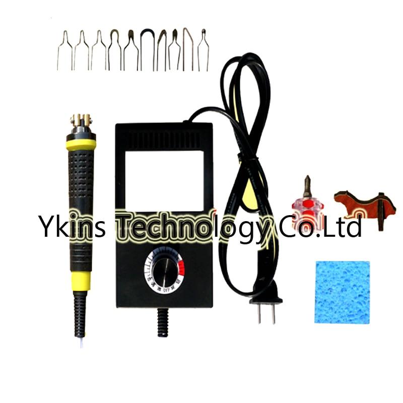 Free shipping mini thermostat hoist pyrography machine 8 pyrography iron head 25W 220V 110V fine handle