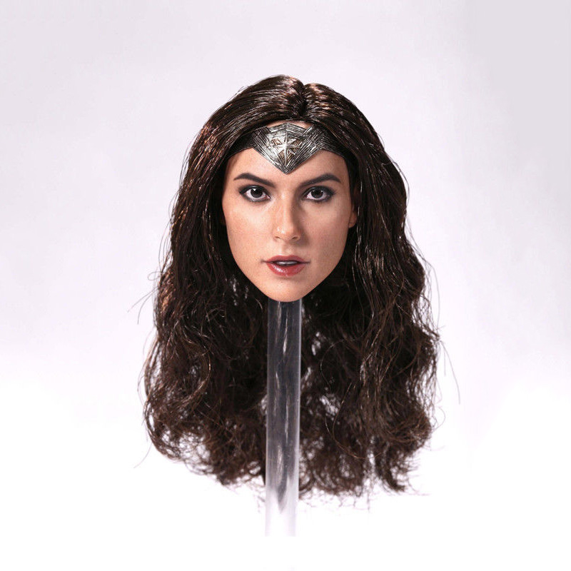 hot toys 1/6 Scale Wonder Woman Female Head Sculpt Girl Gal Gadot Head For 12'' PH TBL Body Figures not brian azzarello wonder woman volume 1 blood