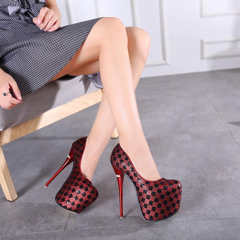 Popular Checkered High Heels-Buy Cheap Checkered High Heels lots ...