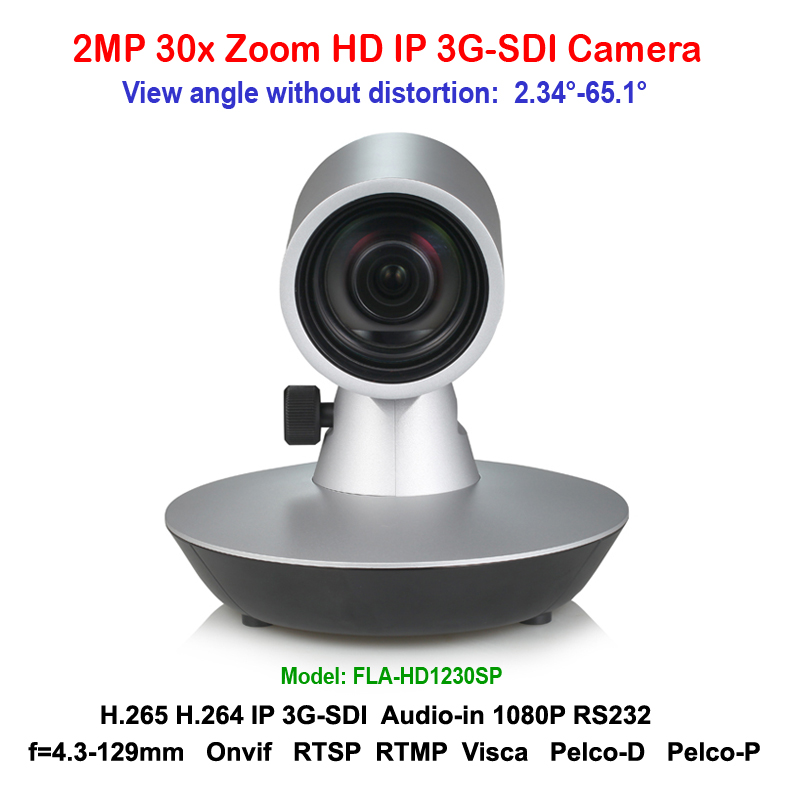 Full HD 30x Optical Zoom IP Video Audio Streaming Camera with Simultaneous 3G-SDI Outputs Silver color 20x optical zoom ptz ip wifi streaming video audio camera rtmp rtsp onvif with simultaneous hdmi and 3g sdi outputs silver color