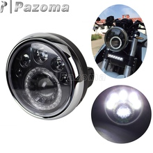 PAZOMA 7 HALOGEN MOTORCYCLE CRYSTAL CLEAR AMBER LED HALO BLINKER TURN SIGNAL HEADLIGHT