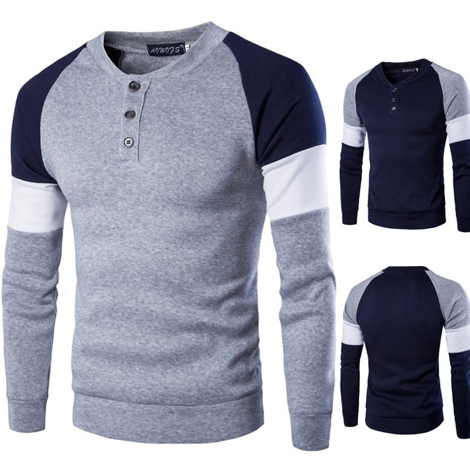 ZOGAA Spring Autumn Men Polo Shirt Men Cotton Long Sleeve Polos Para Hombre Casual Male Patchwork Slim Fit O Neck Polo Homme
