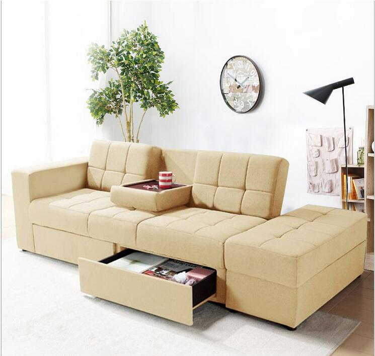 Japanese style sofa bed multi functional small apartment for Sofa in a small living room