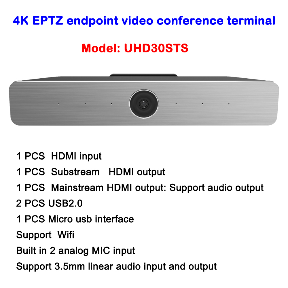 Ultra 4K HD endpoint video conference terminal 1080P HD USB IP WIFI camera with HDMI Input/output image