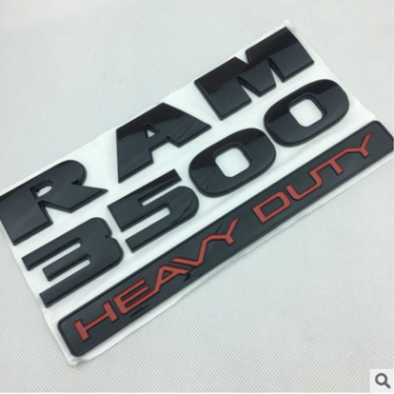 Silver 3D Heavy Duty Fender Emblem Mopar Nameplate Sticker For  RAM 1500