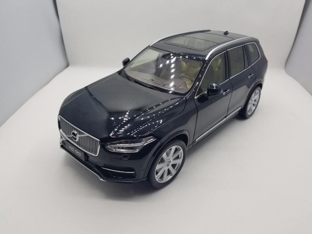 1:<font><b>18</b></font> Diecast Model for Volvo XC90 2015 Black SUV Alloy Toy Car Miniature Collection Gifts XC <font><b>90</b></font> image