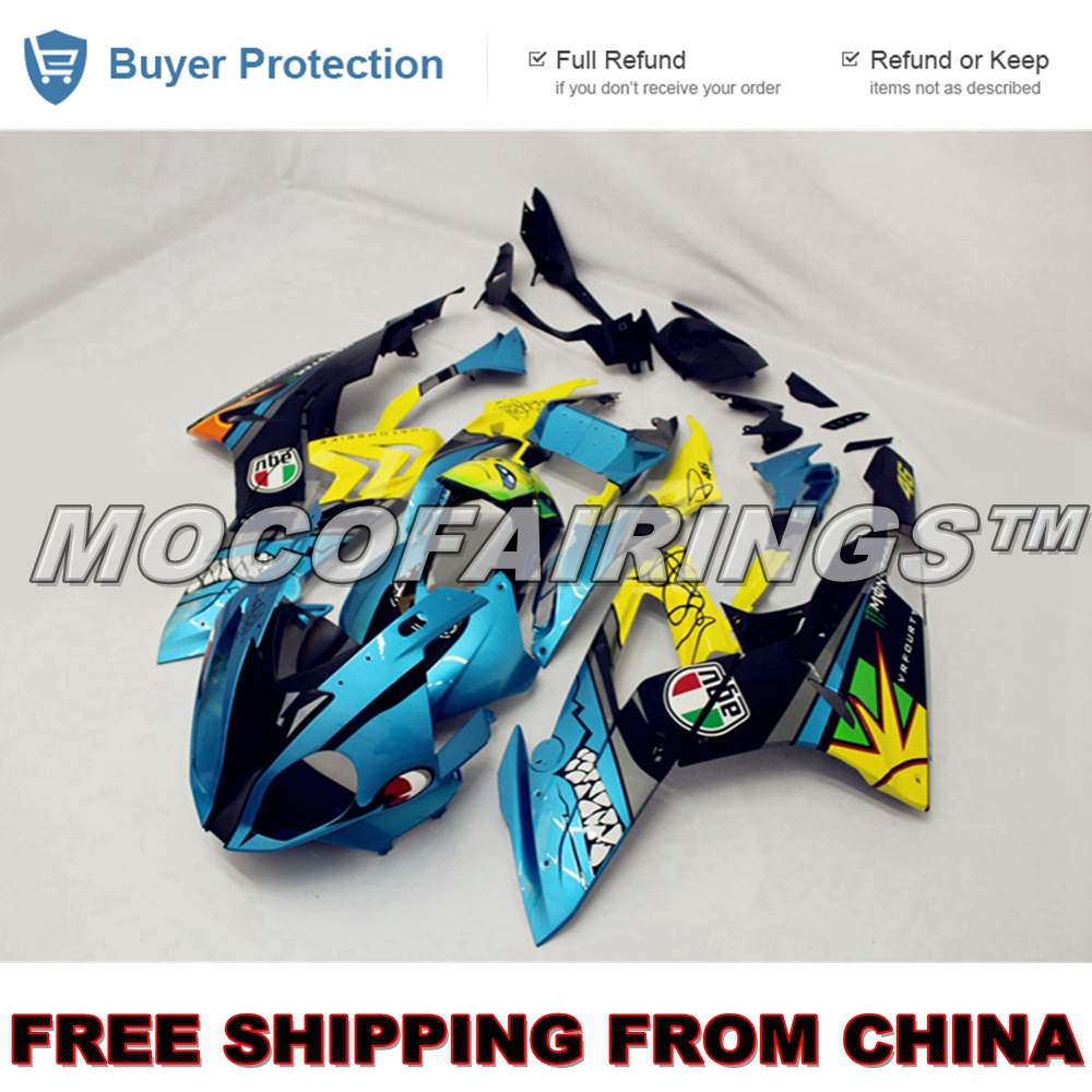 Motorcycle ABS Plastic Injection Fairing Kit For BMW S1000RR 2015 2016 Shark Design long yi taishan jade rat necklace body wangcai anti villain 8000386