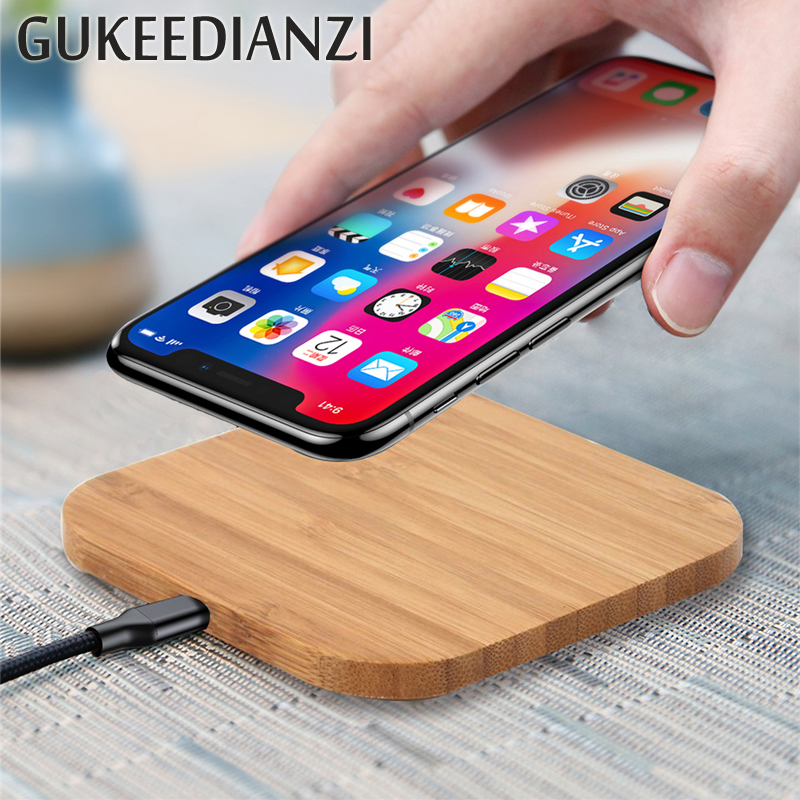 Wireless-Charger Charging-Pad Note Wood Qi Xiaomi Slim Samsung S8 Portable for X/XS Max-Xr/7