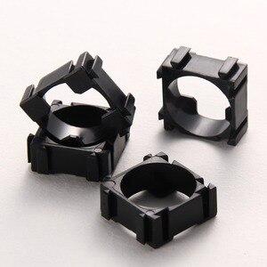Image 3 - 100 ピース/ロットプラスチック 18650 バッテリーホルダーブラケット円筒 18650 ケース携帯ホルダー安全防振リチウムイオンバッテリーホルダー