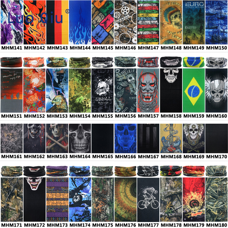 Sport Skull Flag Headwear Magic Scarf Hiking Outdoor Reversible Bandanas Motorcycle Scarves Windproof Cycling Bicycle Headband