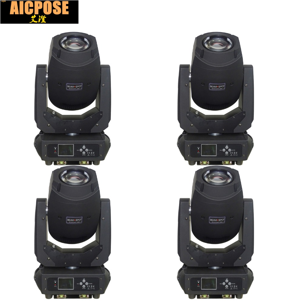 4units 200W 3in1 Beam Led Moving Head Light 6 Gobos 7 Colors Prism Electronic Linear Focus Sound Active Stage lighting