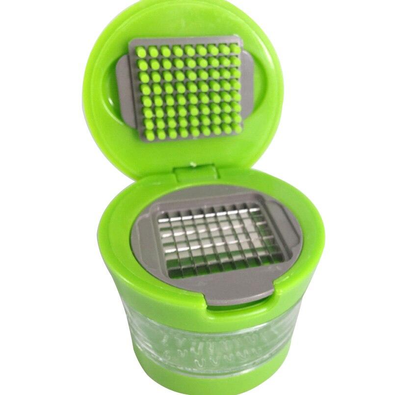 Mini Portable Push Type Garlic Press Chopper Slicer Garlic Grinder Garlic Crusher Shredder Hand Press +Container Kitchen Tools