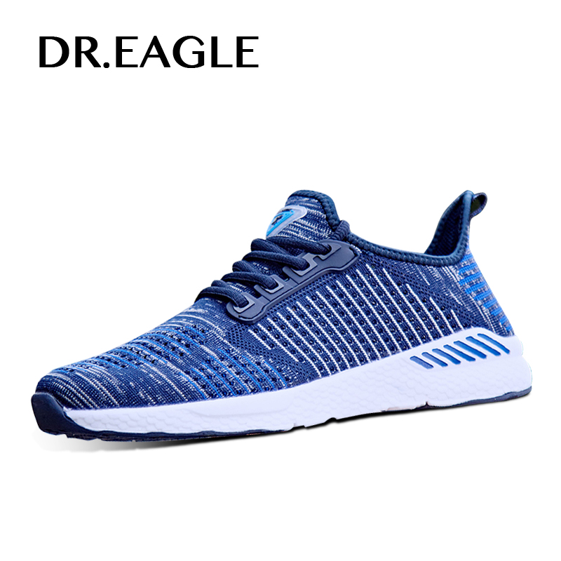 DR.EAGLE Mens Flying Breathable trail running shoes men sneakers male sports shoes run Man tennis sneaker shoes 39 46