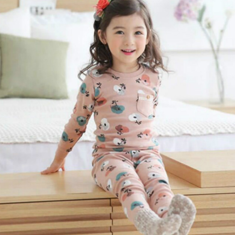 Children   Pajamas     set   Boys Cartoon dinosaur Pyjamas girls cotton cute sleepwear   Sets   Children nightwear Family   pajamas   for kids
