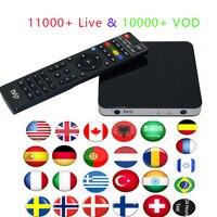 Best Tvip 605 Amlogic S905X Quad Smart TV Box with iptv service USA Arabic French Germany Albania India Spain Sweden Africa