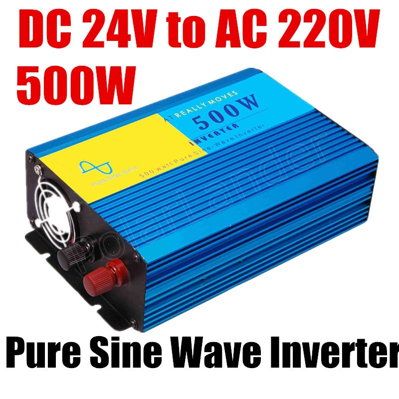 Car Power inverter 500W Pure Sine Wave DC 24V to AC 220V Converter  new pure sine wave inverter converter 50HZ 3 5kw 220v car inverter 3500w3500watt pure sine wave power inverter home car car power inverter dc 12v to ac 220v 3500w