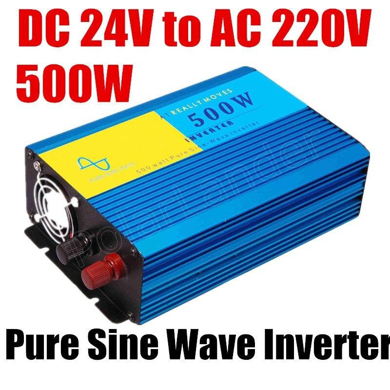 Meilleure vente de haute qualité onde sinusoïdale Pure 50 HZ onduleur 500 W DC 24 V à AC 220 V CE prouvé onduleur voiture onduleur convertisseur