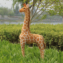 1pc 60-120cm cute simulation giraffe plush toy stuffed soft animal dolls high quality Home Accessories baby kids birthday