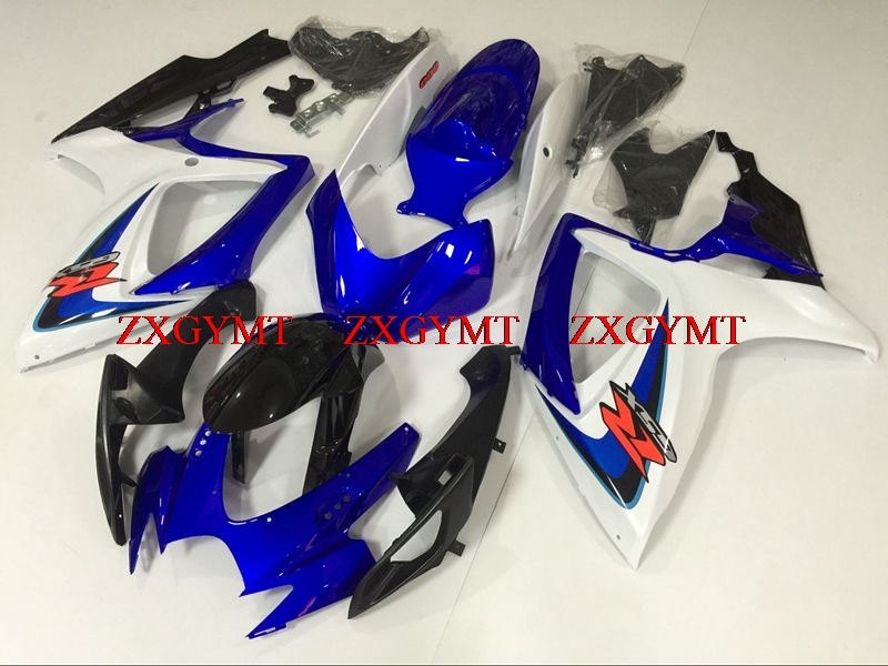 Fairings for GSXR 750 2006 - 2007 K6 Bodywork GSXR750 06 Blue White Black Full Body Kits GSX-R750 06Fairings for GSXR 750 2006 - 2007 K6 Bodywork GSXR750 06 Blue White Black Full Body Kits GSX-R750 06