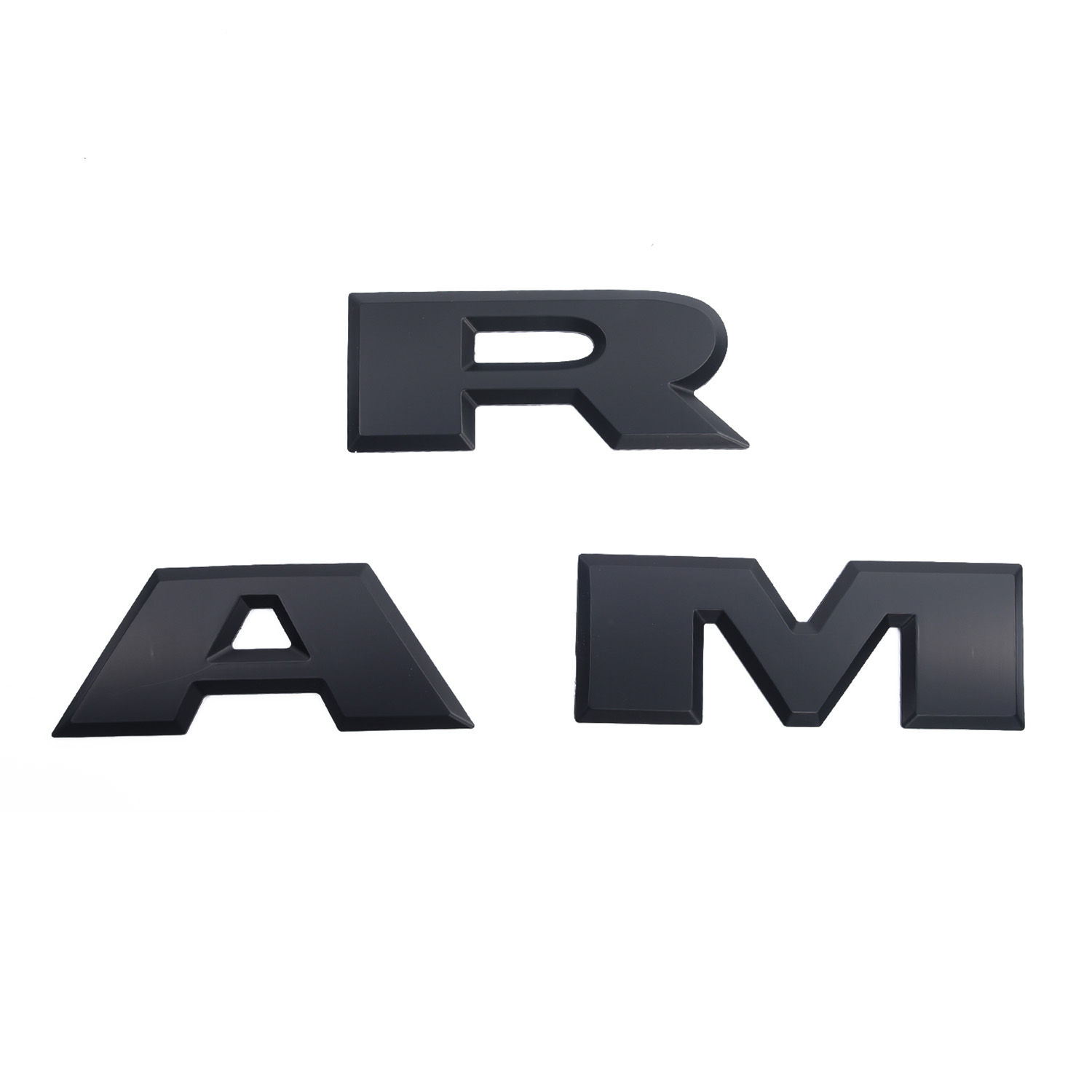 Image 5 - Flat Black 3D Tailgate Ram Emblem Trim Letters For Dodge Ram 1500 2015 2018 Part-in Car Stickers from Automobiles & Motorcycles