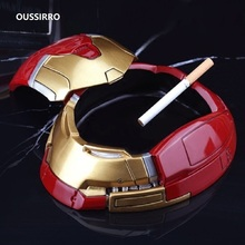 цены OUSSIRRO Super Hero Iron Man Ashtrays Creativity Living Room Decorative Furnishing Articles Hulkbuster Ashtrays