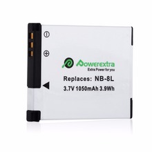 3pcs 1050mAh Lithium-Ion Batteries Pack Replacement 3.7v Battery For Canon PowerShot A2200 A3300 A3100 A3000 IS NB-8L