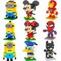 Los Vengadores Secuaces de Diamantes Mickey Minny Modelo Niños de Juguete Bloques Huecos de la Educación de BRICOLAJE Ladrillos de regalo de navidad