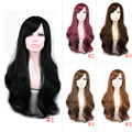 65cm Soft Degre Hair Sexy Fashion Long Wave Lady's Synthetic Hair Wig Full Lace Cosplay Wig Gift HB88