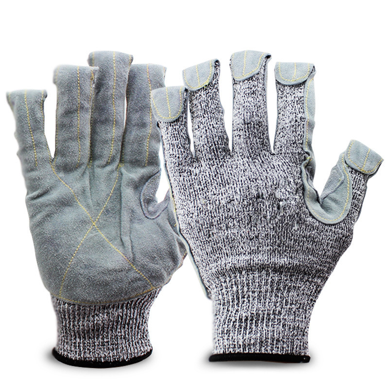 level 5 Anti-cut Safety Gloves Protect Stainless Steel Wire Gloves Cut Metal Mesh Butcher Anti-cutting Breathable Work Gloves black stainless steel wire resistace gloves anti cutting breathable work gloves safety anti abrasion gloves free shipping