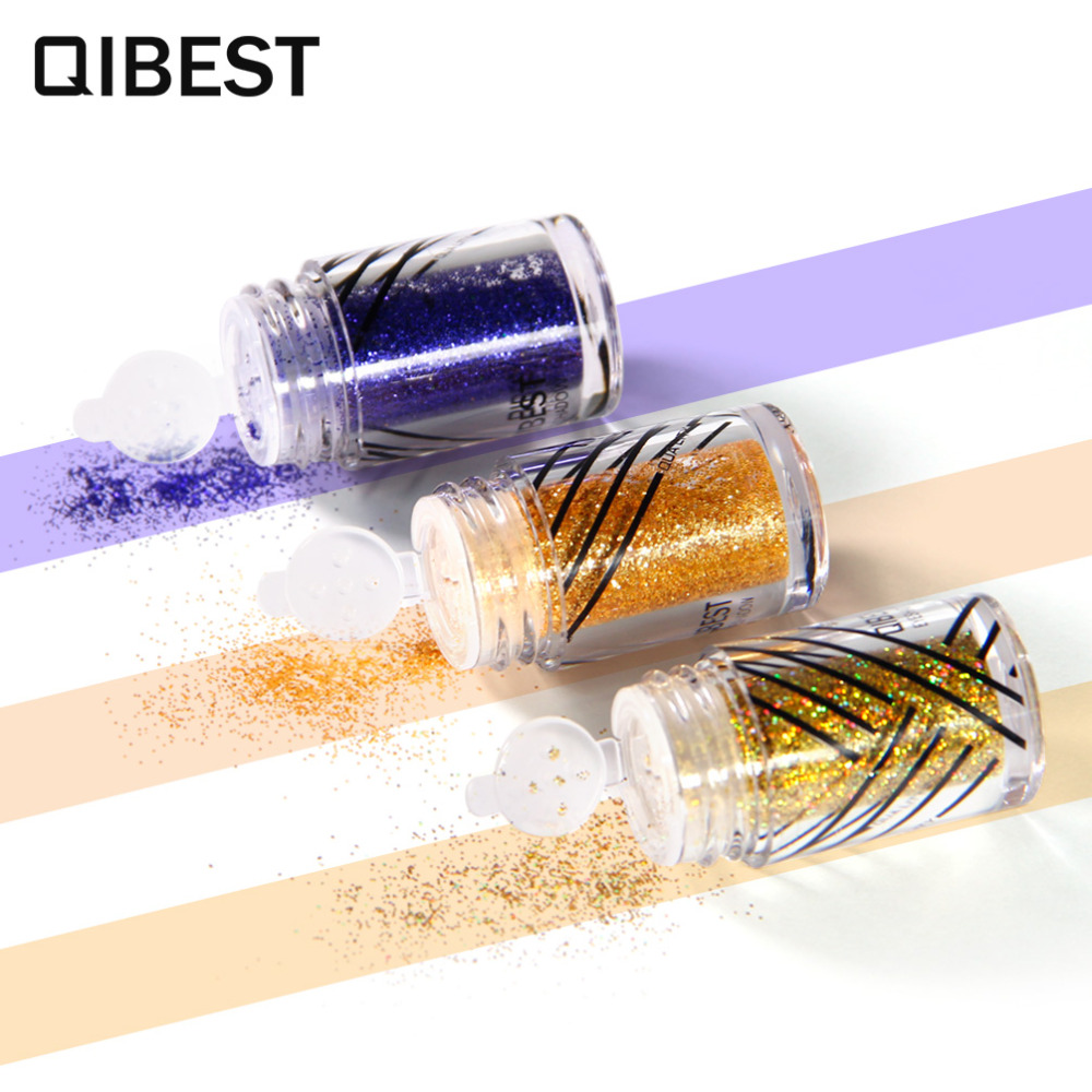 Beauty Essentials 2019 Latest Design Qibest Shimmer Glitter Powder Eye Shadow Face Eyes Lips Nails And Glue Waterproof Colorful Laser-makeup Brand Qibest #l18036 Eye Shadow