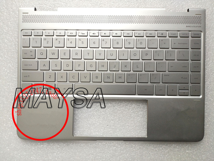 Laptop Palmrest Top Case Cover With US Layout Keyboard For HP 13-AC010TU 13-AC 13-W  907335-001 918027-001