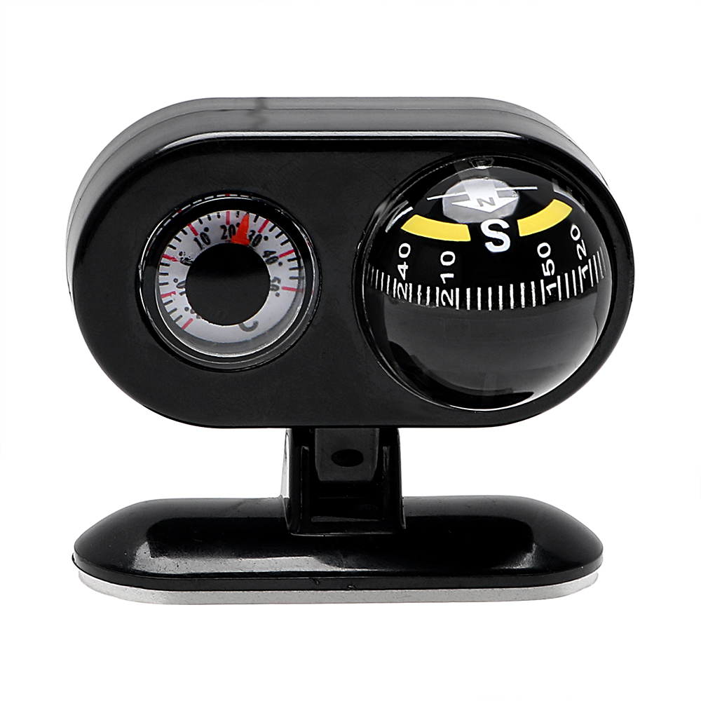 2 in 1 Compass Guide Dashboard Ball Interior Accessories Car-styling  Thermometer Car Ornaments Decoration