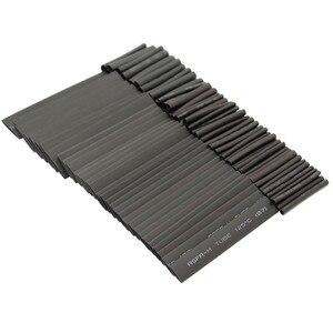 Image 4 - 127 adet siyah isı daralan tüp çeşitler Wrap elektrik yalıtım kablo boru çeşitler poliolefin