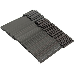 Image 4 - 127pc Black Heat Shrink Tube Assortment Wrap Electrical Insulation Cable Tubing Assortment Polyolefin