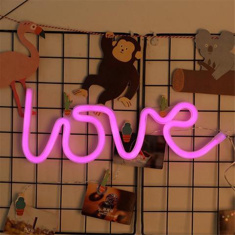luminaria led neon em forma de amor para parede festa decoracao para cafe artesanato mural