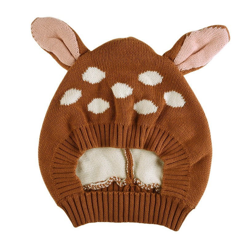 1Pcs Hot Cute Baby Hat Fox Ear Boys Girls Kids Caps Knitted Caps Toddler Crochet Bonnet Touca Inverno 1-4T Baby Knitted Beanies