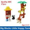 Маленькая ферма комплект качество ABS большие строительные блоки развивающие игрушки - самоконтрящаяся кирпичи смешно DIY игрушки