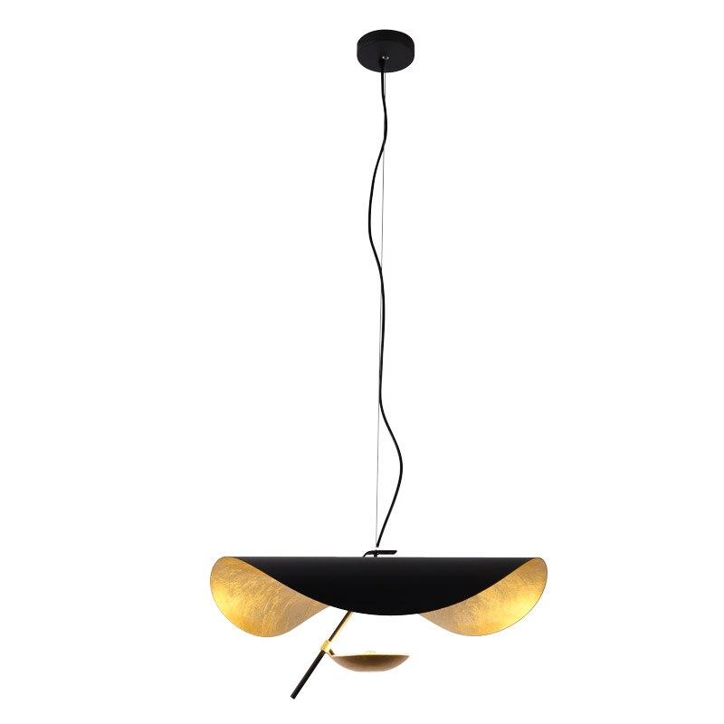 Moderno pingente de luz led pós moderna sala jantar quarto luminária retro preto textura ouro lâmpada pendurada
