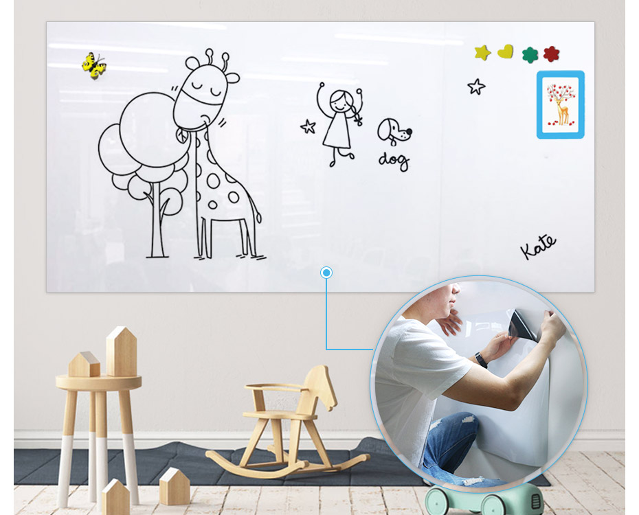 Wall Sticker Decor Soft Magnetic Whiteboard Magnets Erasable Writing Board Ma W7