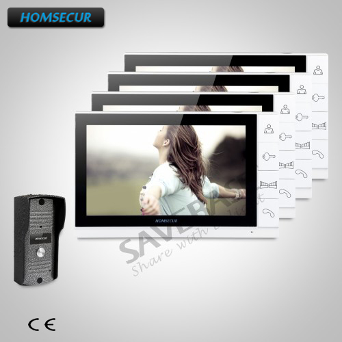 HOMSECUR 9inch Video Door Entry Security Intercom with Metal Case Camera for Apartment