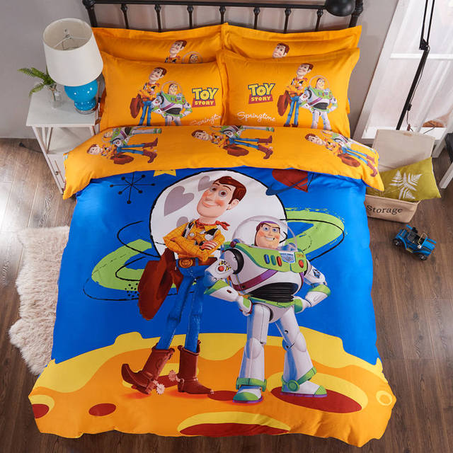Toy Story 3d Gedruckt Bettwäsche Tröster Setzt Bettbezüge Blätter