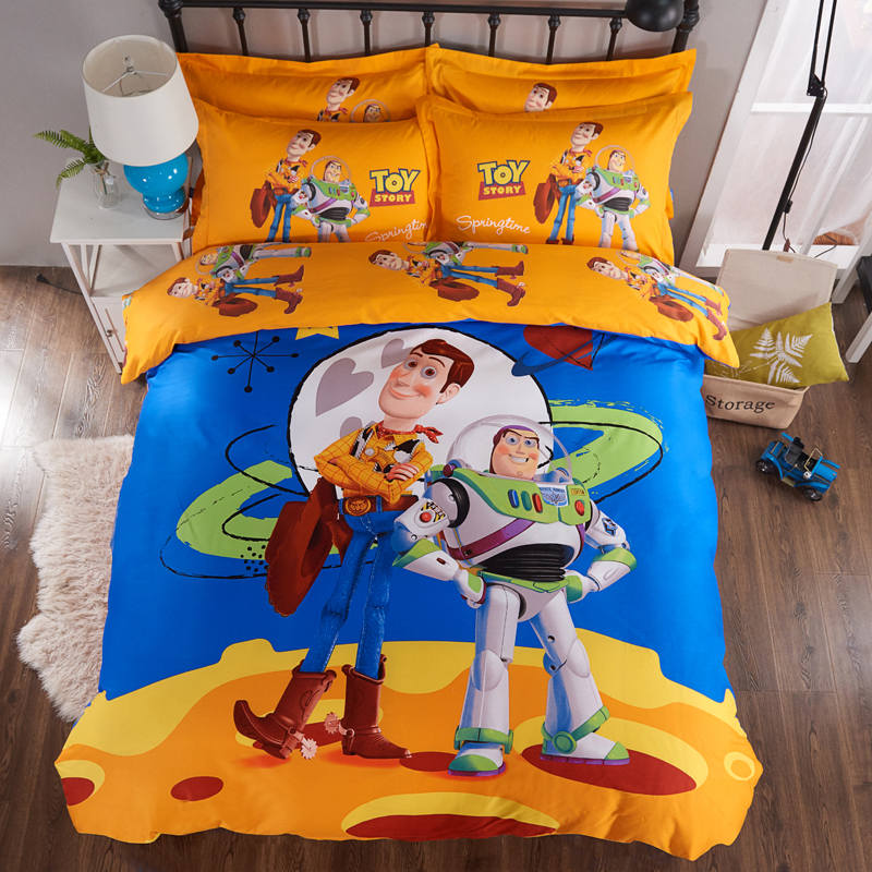 Toy Story 3D Printed Bedding Comforter Sets Duvet Covers Sheets Childrens Boys Baby Bedroom Cotton 600TC Buzz Lightyear WoodyToy Story 3D Printed Bedding Comforter Sets Duvet Covers Sheets Childrens Boys Baby Bedroom Cotton 600TC Buzz Lightyear Woody